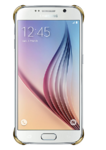 Чехол Samsung Clear Cover Galaxy S6 Gold
